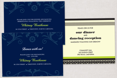 Reception Card Printing