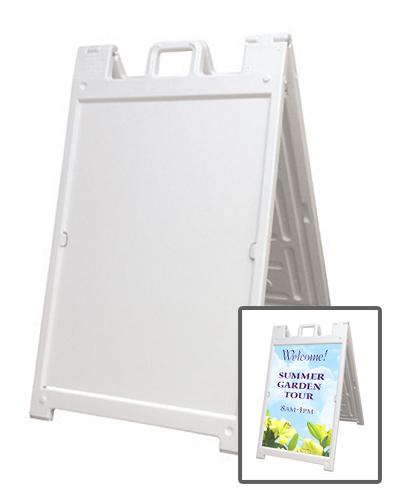 Sandwich Board Deluxe A Frame White Smartpress Com