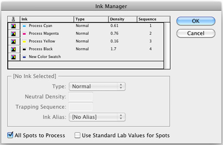 InDesign Ink Manager