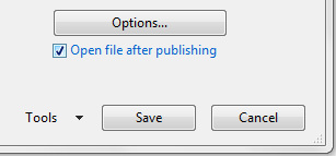 Saving a PDF from Word